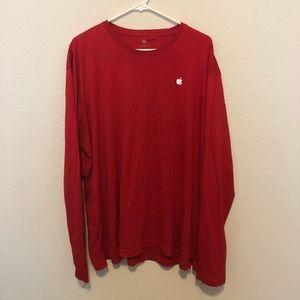 Men's long sleeve Apple t-shirt